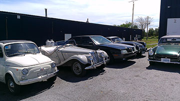 1970 Fiat 500, MGA etc.